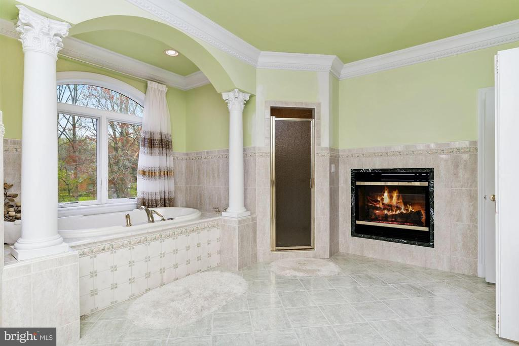 Spa-like Jetted Tub,  Shower & Gas Fireplace - 11536 MANORSTONE LN, COLUMBIA