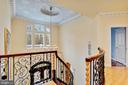 Curved Stair  to upper Landing - 11536 MANORSTONE LN, COLUMBIA