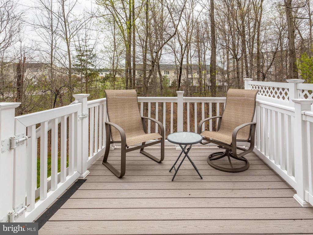 Trex Deck with Wooded View - 8709 WARM WAVES WAY #3, COLUMBIA