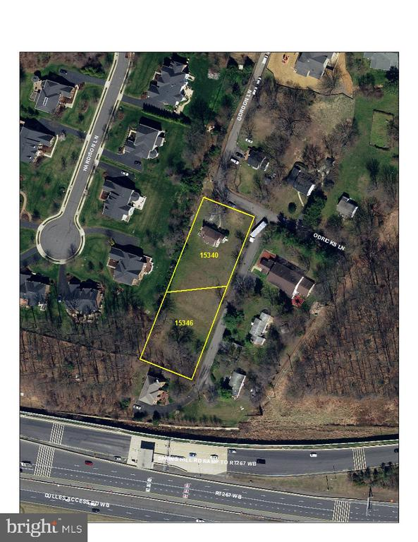 Aerial View of the lots - 1340 GORDON LN, MCLEAN