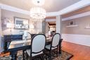 Wainscotting and understated custom paint details - 21528 INMAN PARK PL, ASHBURN