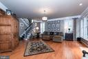 Check out the stairs! Classic black railings - 21528 INMAN PARK PL, ASHBURN