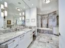 Marble Master Bath w/Dual Sinks & Make-Up Vanity - 1881 N NASH ST #1902, ARLINGTON