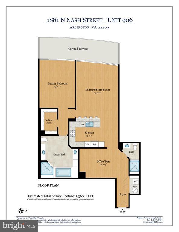 Floor Plan - 1881 N NASH ST #906, ARLINGTON