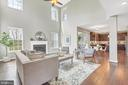 Two-story Great Room opens to Kitchen area - 10407 DEL RAY CT, UPPER MARLBORO