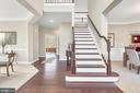 Two - story foyer opens to living and dining rooms - 10407 DEL RAY CT, UPPER MARLBORO
