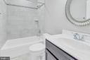 Full bath in basement - 10407 DEL RAY CT, UPPER MARLBORO
