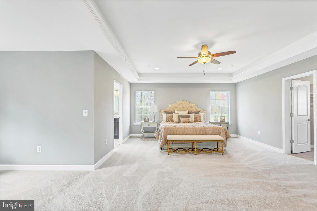 Master bedroom with optional tray ceiling - 10407 DEL RAY CT, UPPER MARLBORO