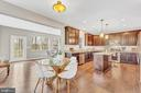 Kitchen with eating area and optional morning rm - 10407 DEL RAY CT, UPPER MARLBORO