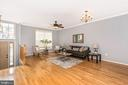 LIVING ROOM W/ GLEAMING HARDWOOD FLOORS - 305 GREEN FERN CIR, BOONSBORO