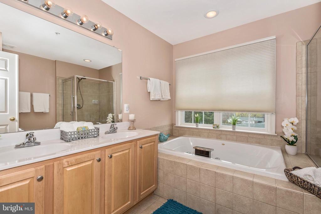 MASTER EN-SUITE BATHROOM W/ DOUBLE VANITY - 305 GREEN FERN CIR, BOONSBORO