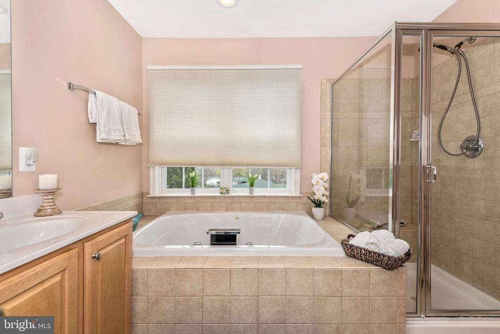MASTER EN-SUITE W/ SEPARATE SHOWER AND SOAKING TUB - 305 GREEN FERN CIR, BOONSBORO