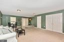 FULLY FINISHED RECREATION ROOM - 305 GREEN FERN CIR, BOONSBORO
