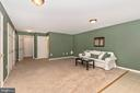 FULLY FINISHED RECREATION ROOM  VIEW 3 - 305 GREEN FERN CIR, BOONSBORO