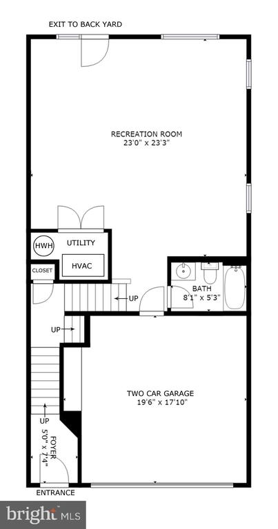 Floorplan - Ground Level - 44396 FOXTHOM TER, ASHBURN