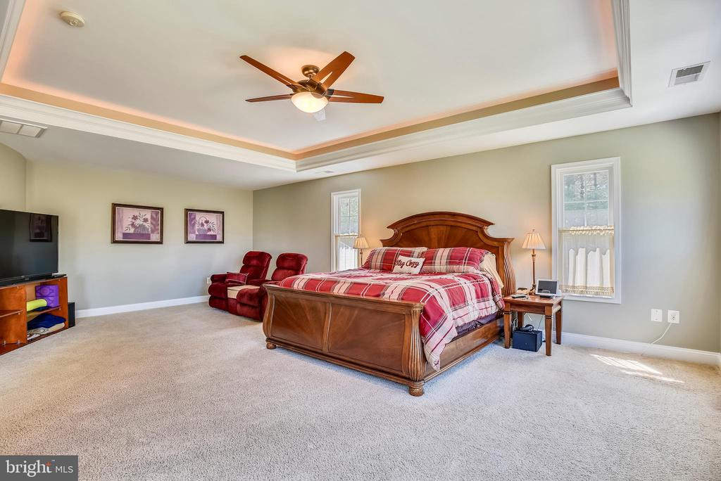 Master Bedroom Suite with Generous Sitting Area - 15579 WOODGROVE RD, PURCELLVILLE