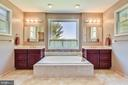Master Bath with Deep Soaking Tub & Dual Vanities - 15579 WOODGROVE RD, PURCELLVILLE