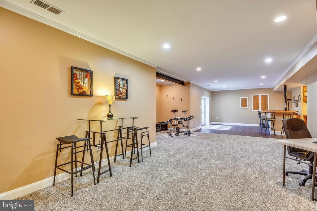 Finished Lower Level Rec Room for Your Enjoyment! - 15579 WOODGROVE RD, PURCELLVILLE