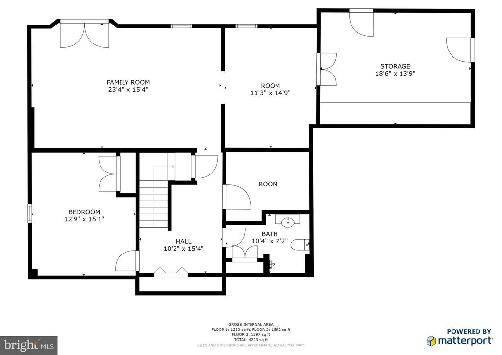 Basement floor plan - 78 TIMBERIDGE DR, FREDERICKSBURG