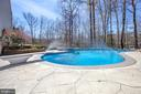 In ground Pool with jet sprays and diving board - 78 TIMBERIDGE DR, FREDERICKSBURG