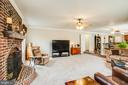 Family Room with brick wood burning fireplace - 78 TIMBERIDGE DR, FREDERICKSBURG