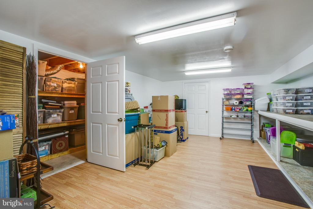 Large storage area in basement - 78 TIMBERIDGE DR, FREDERICKSBURG