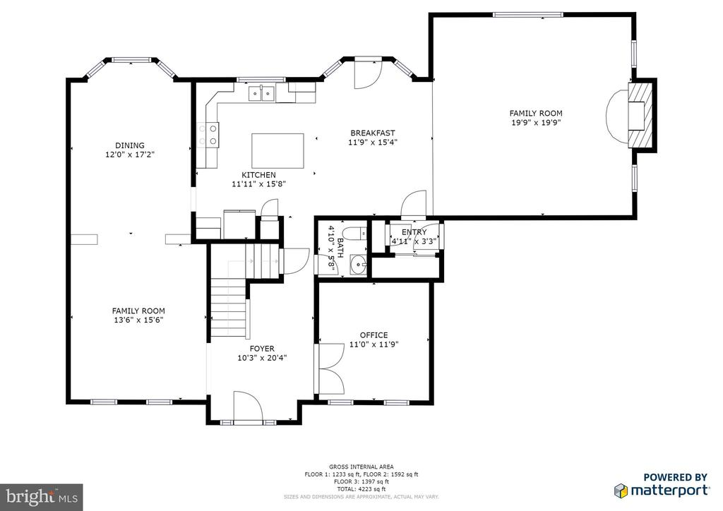 Main level floor plan - 78 TIMBERIDGE DR, FREDERICKSBURG