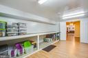Storage area with built in shelving - 78 TIMBERIDGE DR, FREDERICKSBURG