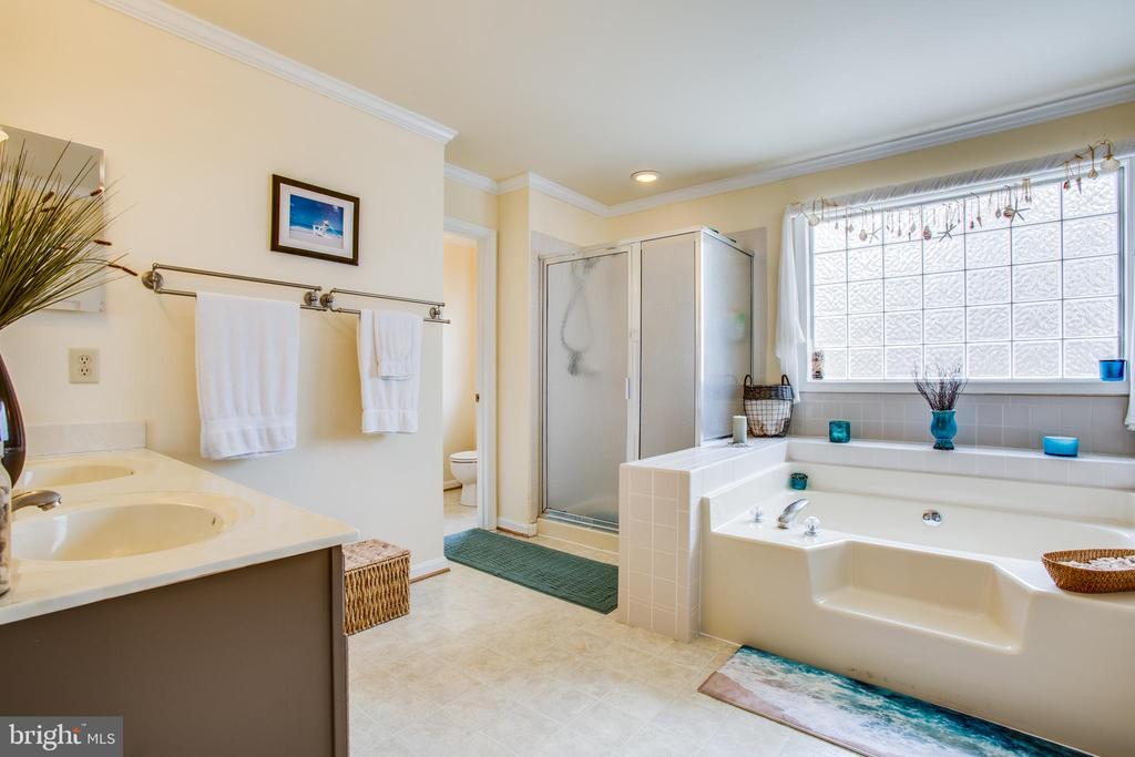 Master bath with separate shower and  garden tub - 78 TIMBERIDGE DR, FREDERICKSBURG