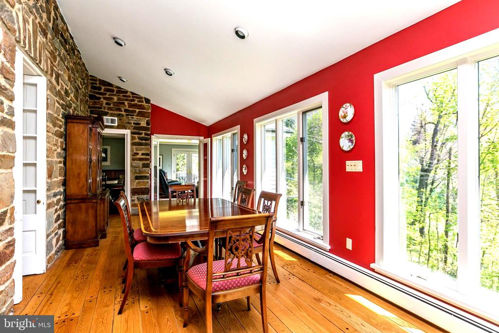 SUNNY DINING ROOM WITH TINTED WINDOWS - 1009 WINDING WAY, BALTIMORE