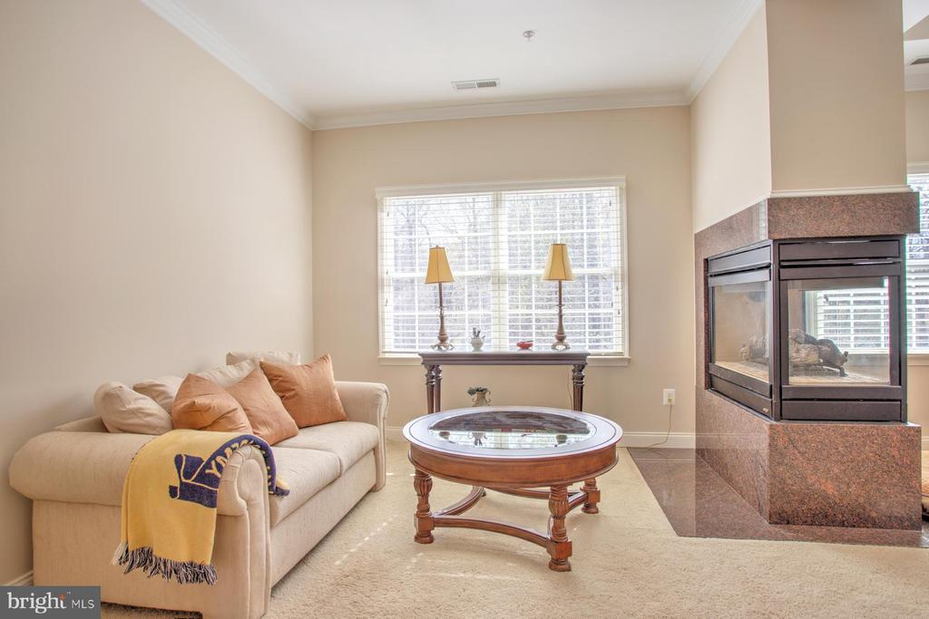Master Sitting area & gas fireplace - 4607 EXMOORE CT, UPPER MARLBORO
