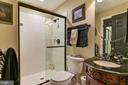 Full Bath Adjacent to Dance/Ex Room - 106 FALCON RIDGE RD, GREAT FALLS