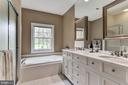 Upper Level Master Bathroom - 106 FALCON RIDGE RD, GREAT FALLS