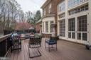8' French doors to Deck from FR - 106 FALCON RIDGE RD, GREAT FALLS