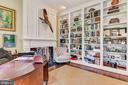 Cozy Library with  Gas Fireplace - 106 FALCON RIDGE RD, GREAT FALLS