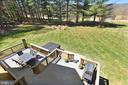 Balcony View to Back Deck & Fire Pit Area - 15579 WOODGROVE RD, PURCELLVILLE