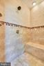 Master Shower with Dual Shower Heads & B-I Bench - 15579 WOODGROVE RD, PURCELLVILLE