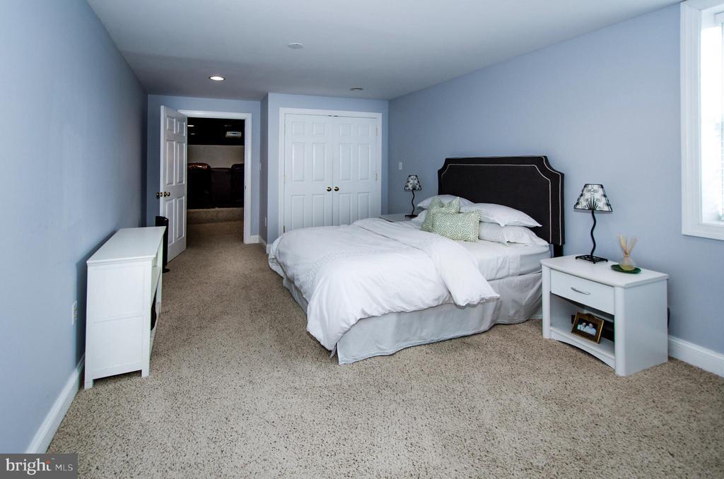 Bedroom 5 in Walk Out Lower Level- - 14974 MERRITT FARM LN, LEESBURG