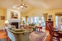 Living area opens to screened porch - 7803 TRANQUILITY CT, SPOTSYLVANIA