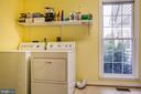 Large Laundry room with tub sink & 2nd fridge - 7803 TRANQUILITY CT, SPOTSYLVANIA