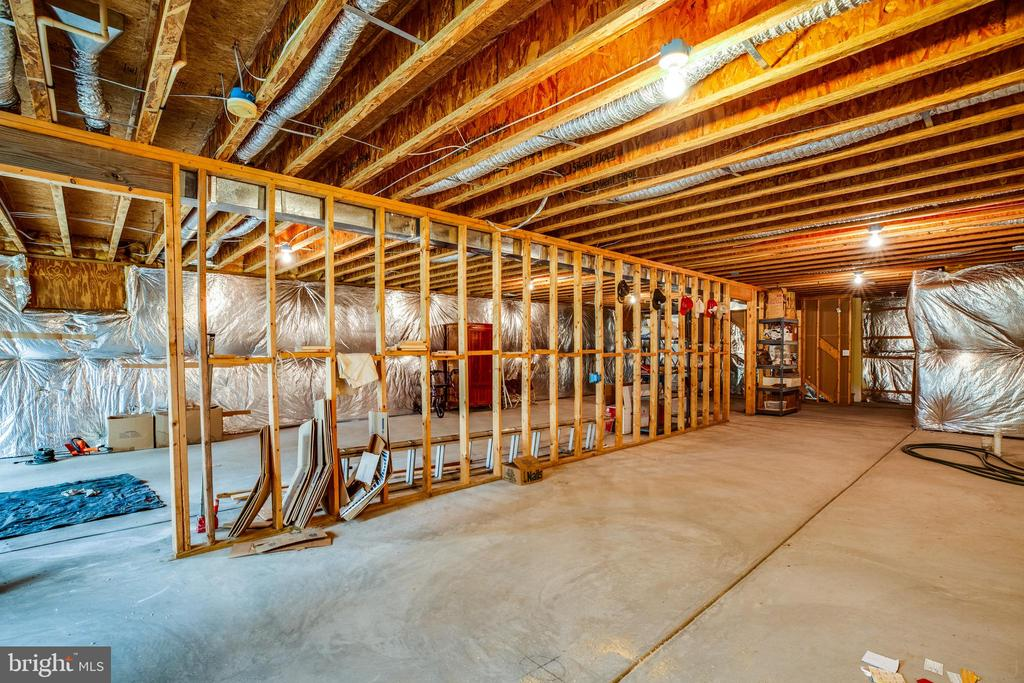 Basement w/ potential for additional finished SF! - 7803 TRANQUILITY CT, SPOTSYLVANIA