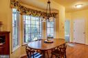 Bay window in kitchen - 7803 TRANQUILITY CT, SPOTSYLVANIA