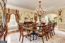Formal Dining Room - 9606 FALLS, POTOMAC