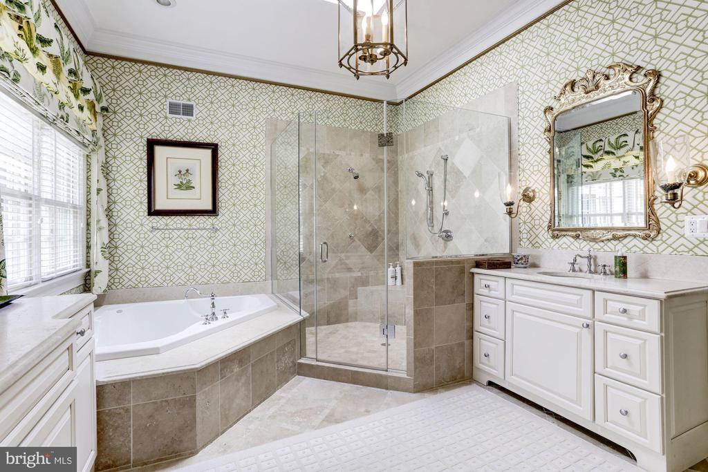 First Floor Master Bathroom - 9606 FALLS, POTOMAC