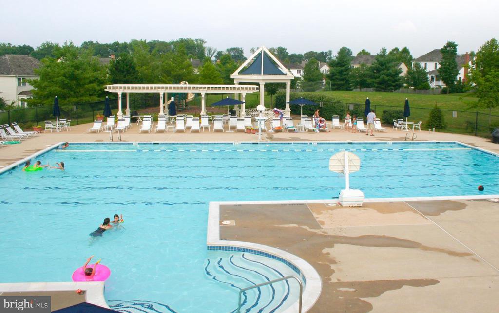 HOA pool (walk-in kiddie pool not shown) - 606 DISKIN PL SW, LEESBURG