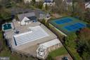 HOA Large pool area (see kiddie pool covered) - 606 DISKIN PL SW, LEESBURG