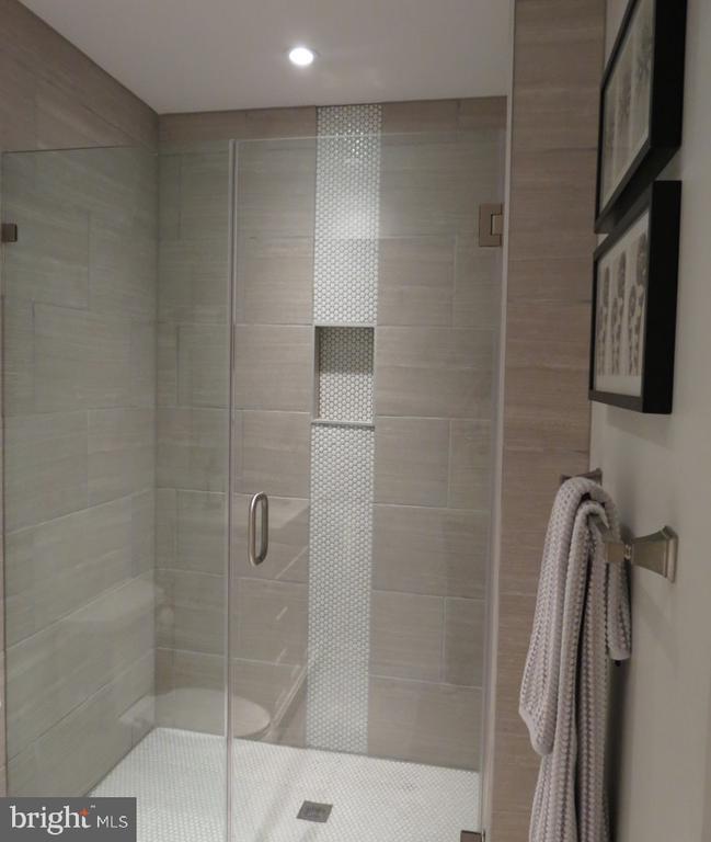 Lower Level Full Bath - Custom Porcelain Tile - 4345 BANBURY DR, GAINESVILLE