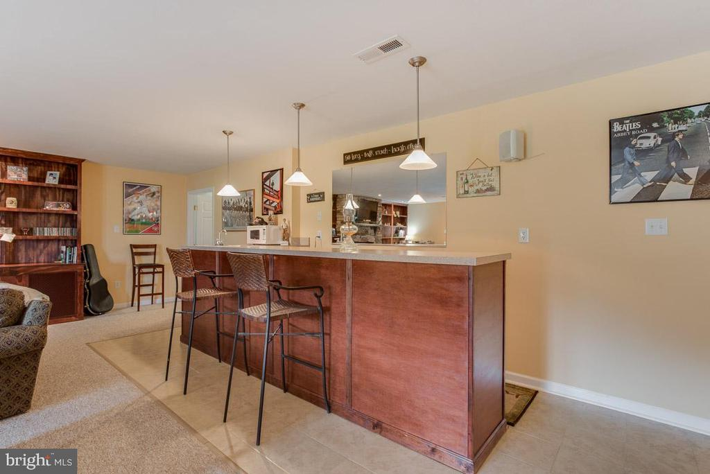 Wet Bar off the Family Room - 10179 LAWRENCE LN, LOCUST GROVE