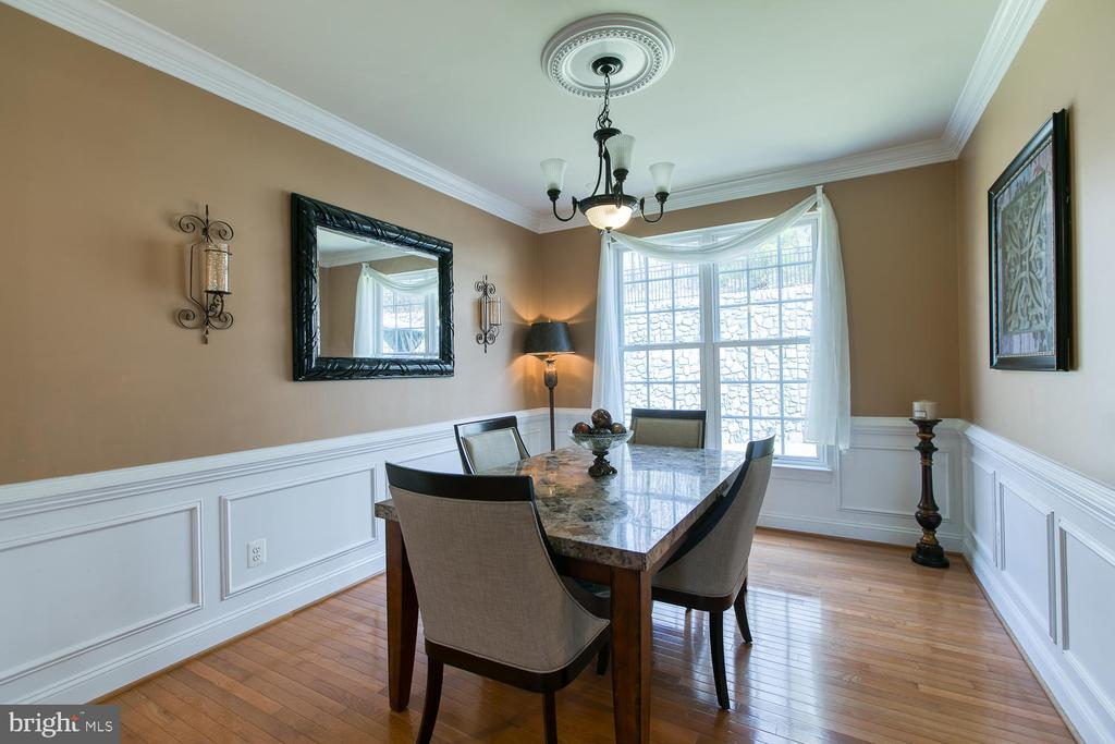 Formal Dining Room, Wainscoting and Crown Molding - 3412 WOOLFENDEN CT, TRIANGLE