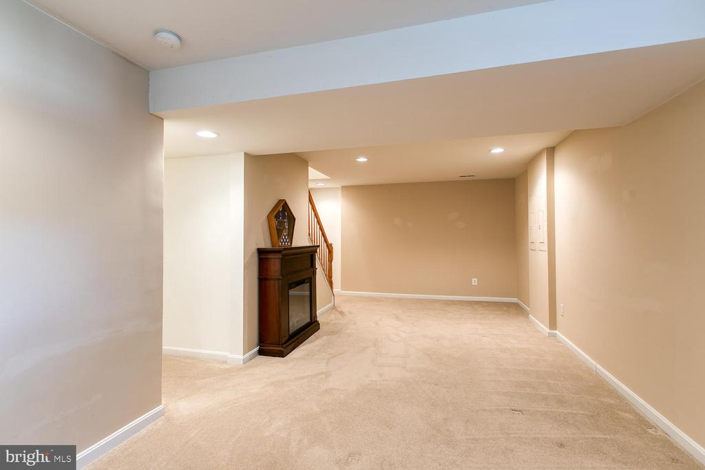 Lots of space and light in the basement - 3412 WOOLFENDEN CT, TRIANGLE